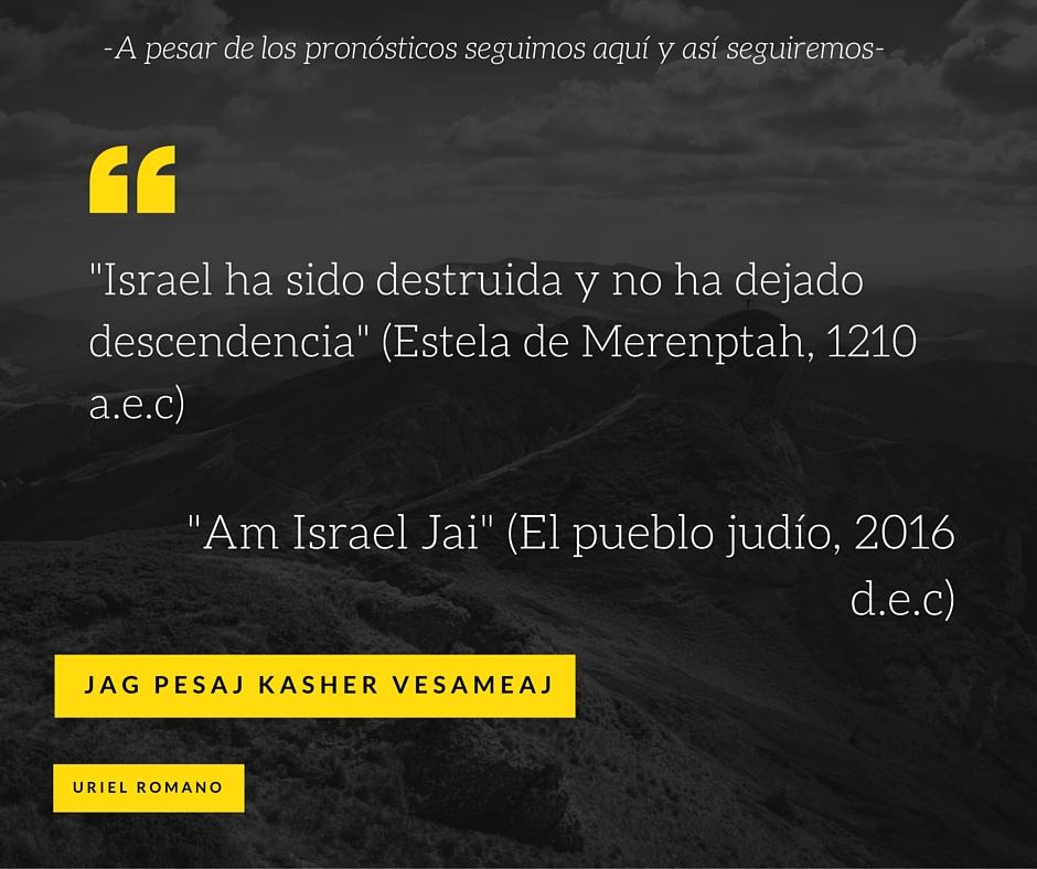 Israel: ayer, hoy y siempre.