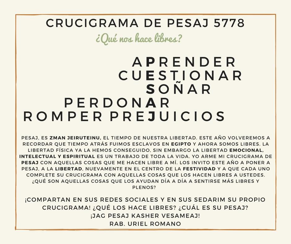 CRUCIGRAMA DE PESAJ 5778